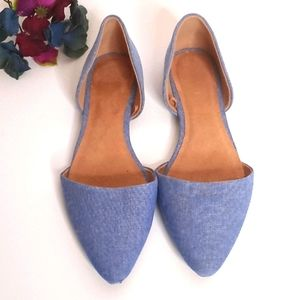 Old Navy Denim Pointed Flats